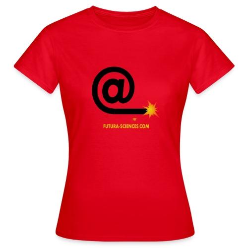 Arobase étincelle femme rouge - T-shirt Femme