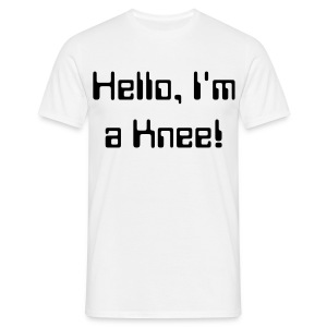 Mens Tee: Hello, I'm a Knee! - Men's T-Shirt