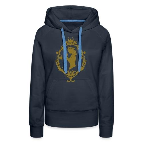 Kapuzenpulli Schleife Navy-Gold - Frauen Premium Hoodie