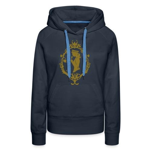 Kapuzenpulli Band Navy-Gold - Frauen Premium Hoodie