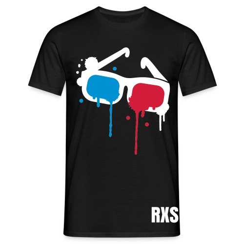 3D  black-white-blue-red - Männer T-Shirt