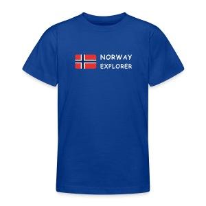 Teenager T-Shirt NORWAY EXPLORER white-lettered - Teenage T-shirt