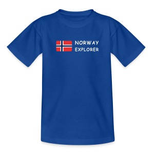 Teenager T-Shirt NORWAY EXPLORER white-lettered - Teenage T-shirt