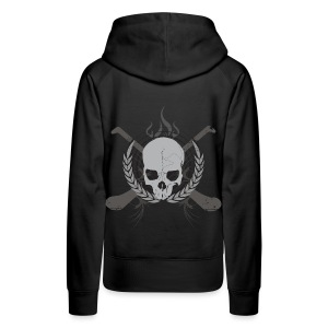 Skull And Hurleys : Grey on Black - Women's Premium Hoodie