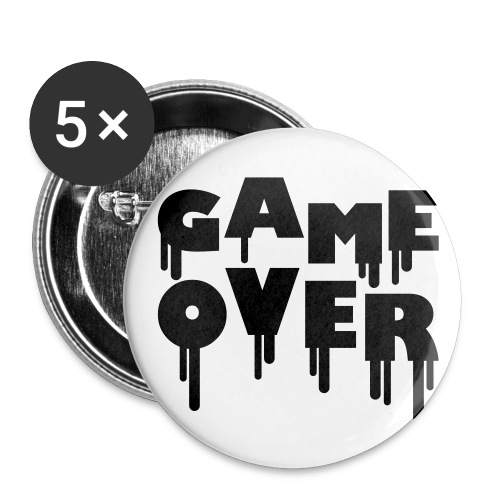 Game over - Buttons klein 25 mm (5er Pack)