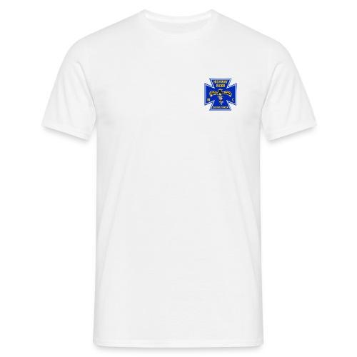 Shirt weiß, Brustlogo farbig - Männer T-Shirt