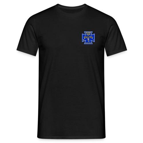 Shirt schwarz Brustlogo farbig - Männer T-Shirt