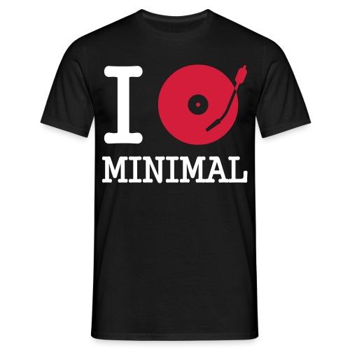 i love minimal - Männer T-Shirt