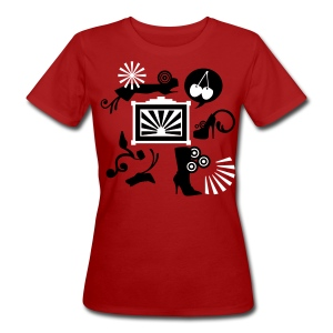 soft organic cotton with flockprint - Frauen Bio-T-Shirt