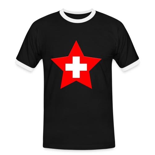 Swiss Star - Männer Kontrast-T-Shirt