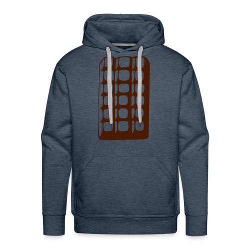 Chocolat - Sweat-shirt à capuche Premium pour hommes