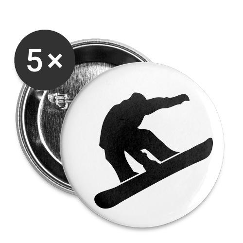 Button: Snowboarder - Buttons klein 25 mm