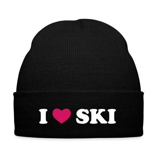 Wintermütze: I love ski - Wintermütze