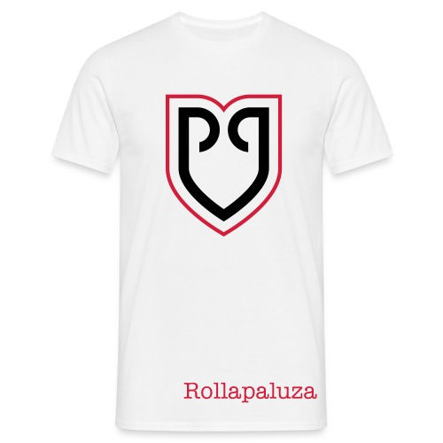 Rollapaluza official tee shirt mens white - Men's T-Shirt