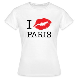 T Shirt Klassik I Love Paris - Frauen T-Shirt