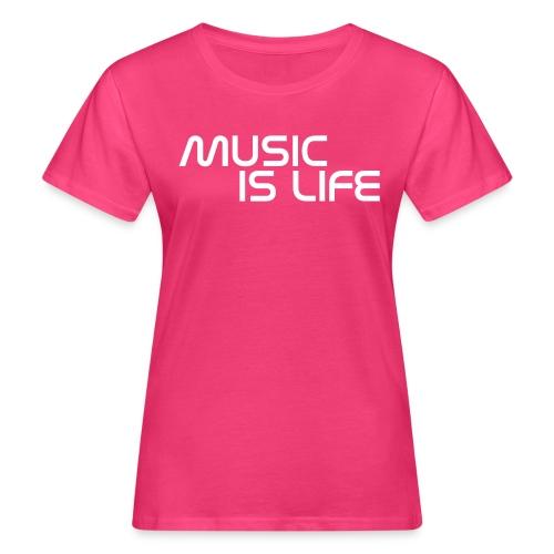 Music is Life MDj (W) - Camiseta ecológica mujer