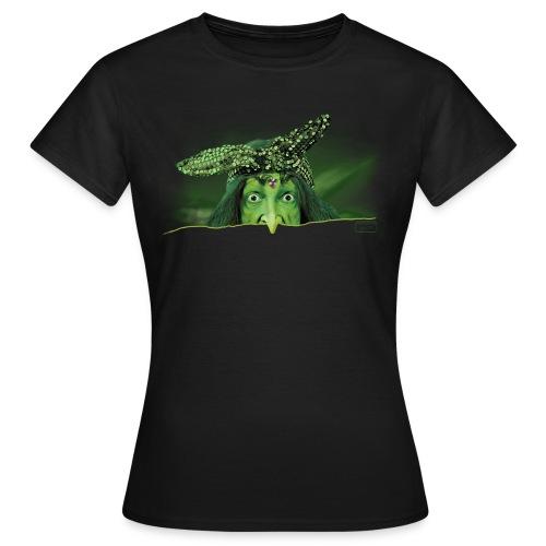Frauen T-Shirt - Plakat,Gesicht