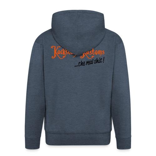 Kackstuhl Kapuzenjacke, granit/orange - Männer Premium Kapuzenjacke