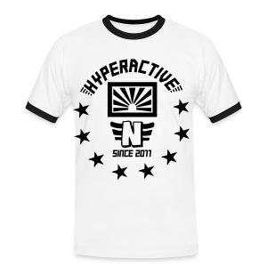 hyperactive flock black white - Männer Kontrast-T-Shirt