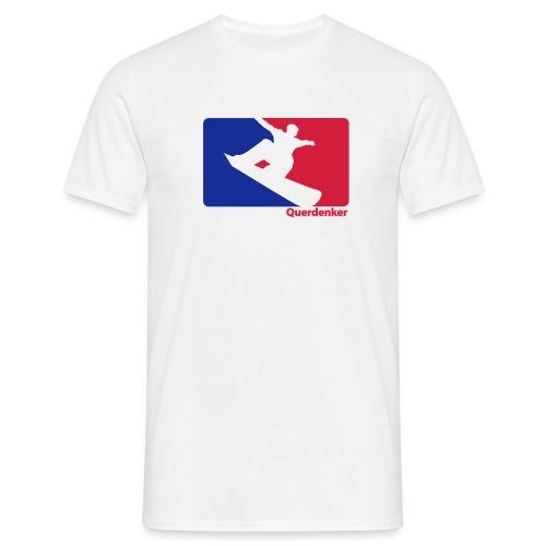 Querdenker Snowboardshirt weiß - Männer T-Shirt