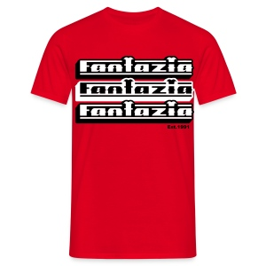 Multiple 3D Fantazia Circus Logos - Men's T-Shirt
