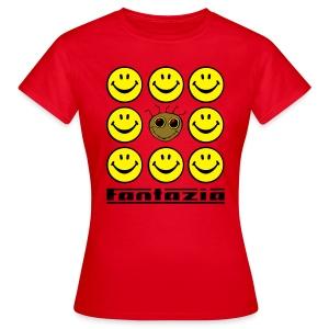 Fantazia & 9 Smilies Ladies T-shirt - Women's T-Shirt