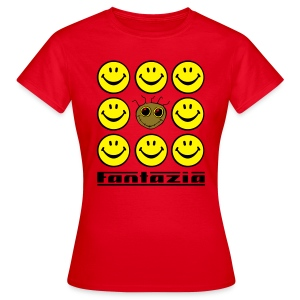 Fantazia & 9 Smilies Ladies T-shirt - Women's T-Shirt