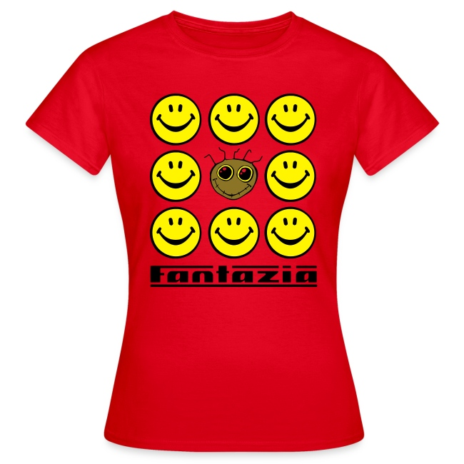 Fantazia & 9 Smilies Ladies T-shirt