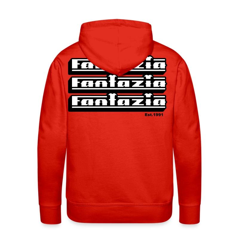 Fantazia Hoodie Logos Front & Back - Men's Premium Hoodie