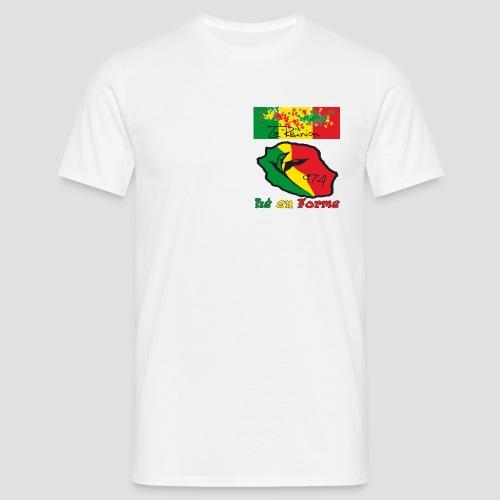 Tee shirt classique Homme lé en forme rasta - T-shirt Homme