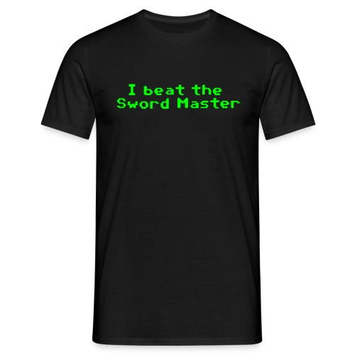 I beat the Sword Master - Männer T-Shirt
