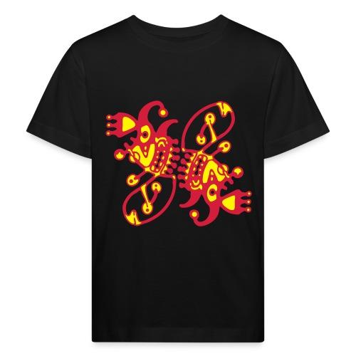 Cosmic Twins - Kid Organic Shirt - 2 Color Plot print Design - Kinder Bio-T-Shirt