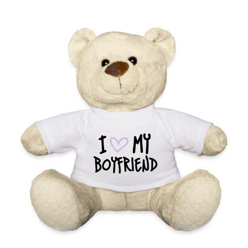 i love my boyfriend teddy - Teddy Bear