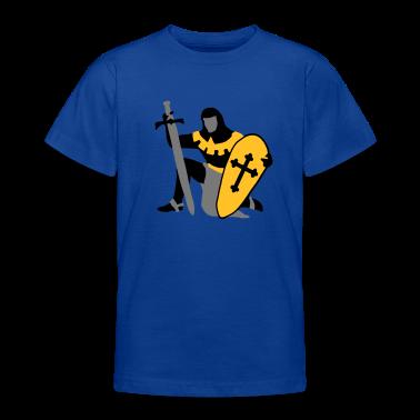 knight kneeling medieval patjila Kids' Shirts