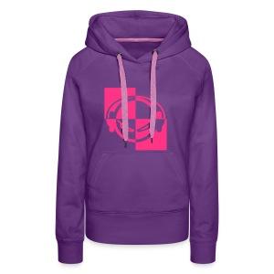 DJ (neon-pink) - Kapuzenpullover - Frauen Premium Hoodie