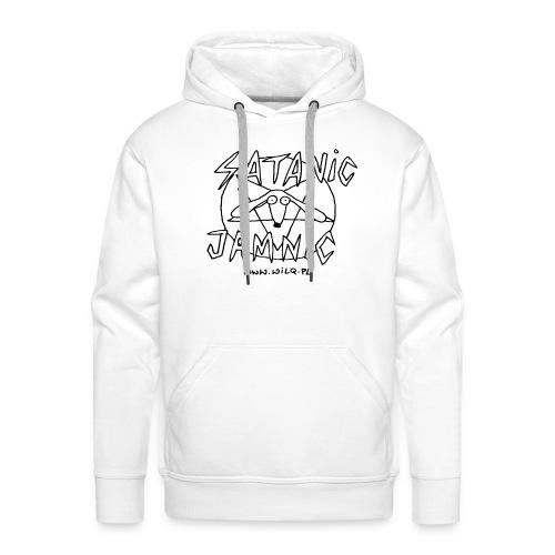 Satanic Jamnik na białej bluzie z kapturem - Bluza męska Premium z kapturem