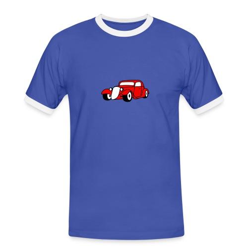 Flockdruck - Hot Rod Oldtimer Custom Car Sweatshirt & T-Shirt - Männer Kontrast-T-Shirt
