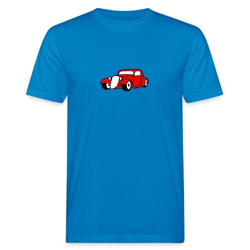 Flockdruck - Hot Rod Oldtimer Custom Car Sweatshirt & T-Shirt - Männer Bio-T-Shirt