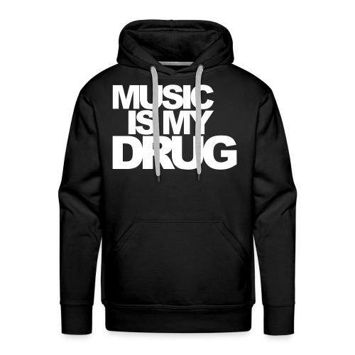Music is my Drug mit Logo am linken Arm - Männer Premium Hoodie