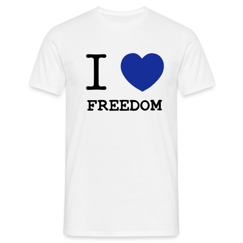 I love Freedom - Männer T-Shirt