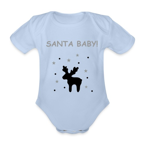 Baby One Piece - Santa Baby - Organic Short-sleeved Baby Bodysuit