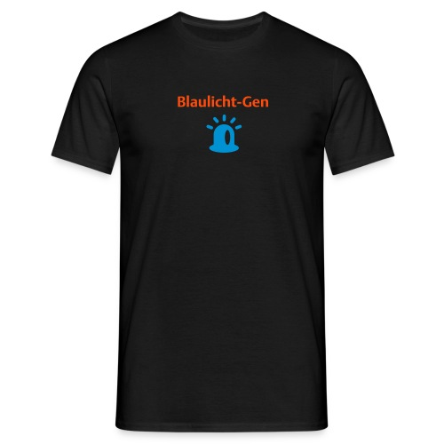 Blaulicht-Gen (Rücken: Link) - Männer T-Shirt