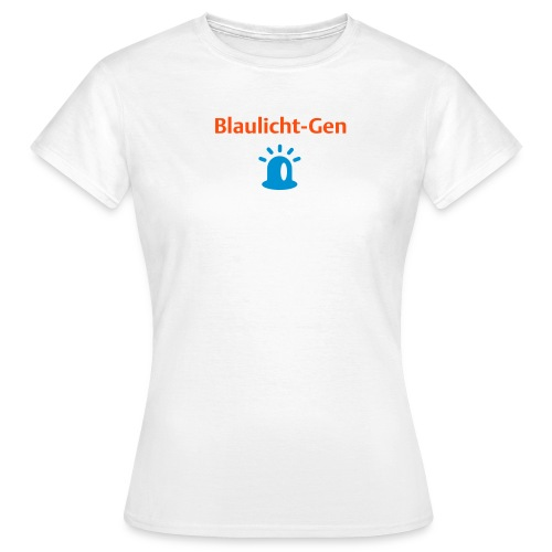 Blaulicht-Gen (Rücken: Link) - Frauen T-Shirt