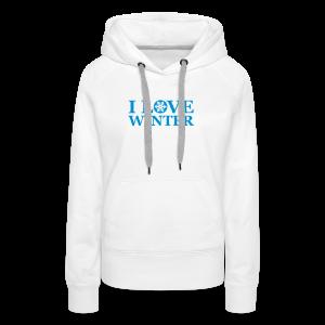 i love winter   damen kapuzenpullover (hoodie) - Frauen Premium Hoodie
