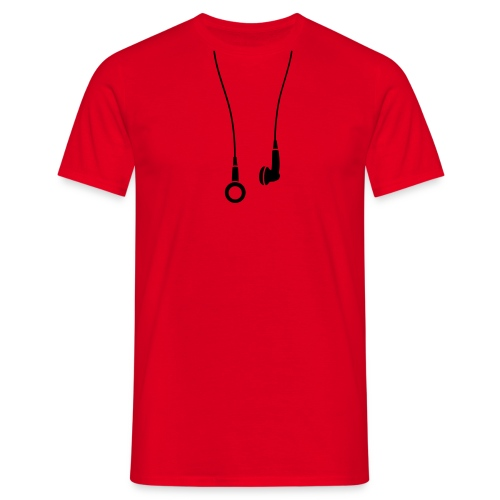 Mens classic T-shirt - earphones motif - Men's T-Shirt