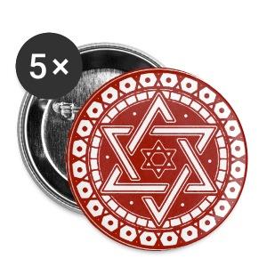 Davidstern - Buttons groß 56 mm