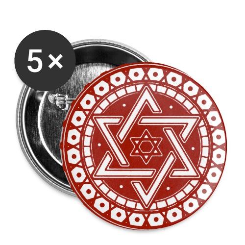 Davidstern - Buttons mittel 32 mm