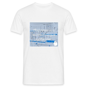 Happiness is a warm Analogue Synthesizer T-Shirt - Men's T-Shirt