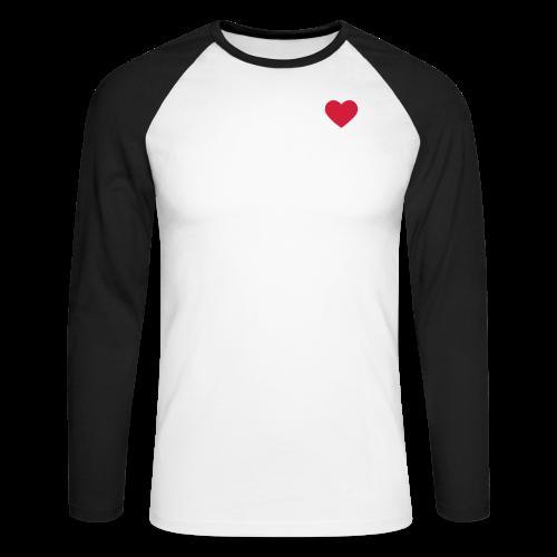 Heart Men's Baseball T-Shirt  - Men's Long Sleeve Baseball T-Shirt