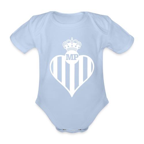 Body Bebé Infancia verdiblanca - Body orgánico de maga corta para bebé